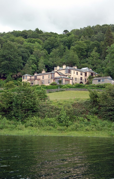 Historic home of the artist and writer John Ruskin (1819 - 1900) Coniston Water, Lake District, Cumbria.  Now preserved as a museum.