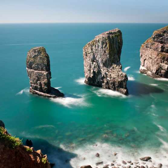 The Elegug Sea Stacks, Pembrokeshire