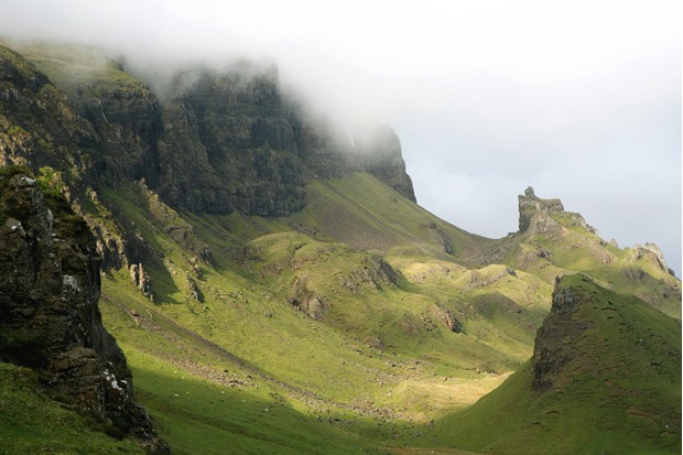 'The Prison' outcrop on the Quiraing, Trotternish, Isle of Skye