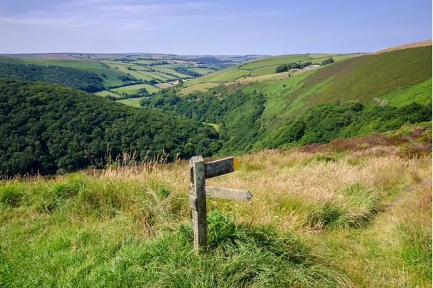 exmoor national park somerset england uk