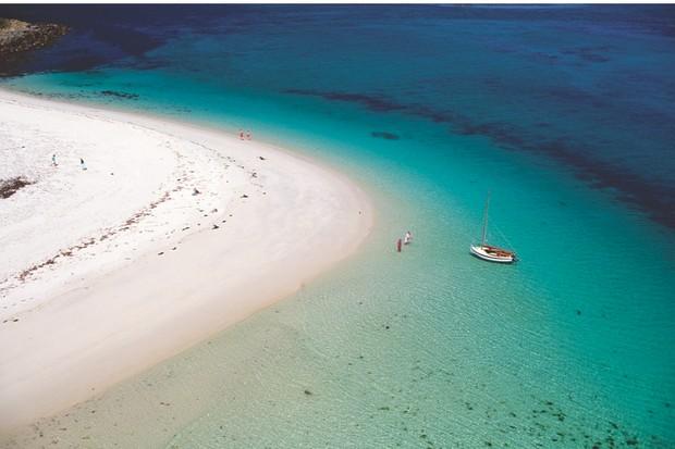 United Kingdom, Scilly Islands, Samson Island (aerial view)