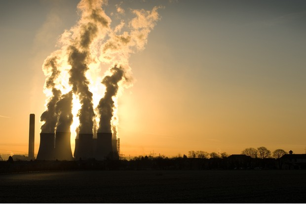 sun is blocked by emmissions from uk coal fired power station