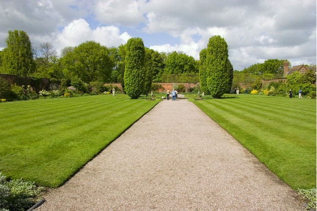 A Large walled garden of Arley hall