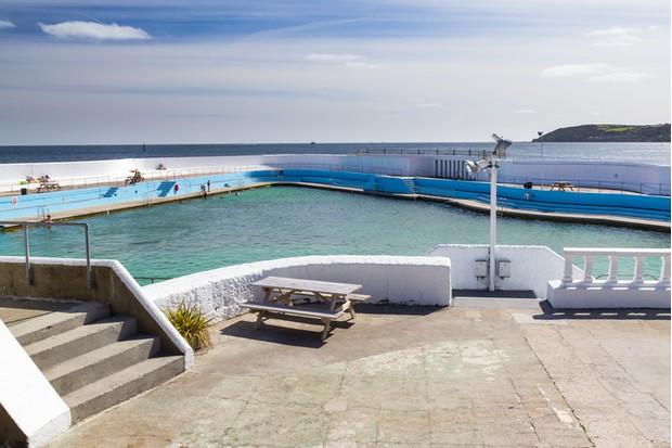 The historic Jubilee Pool Lido Penzance Cornwall England UK