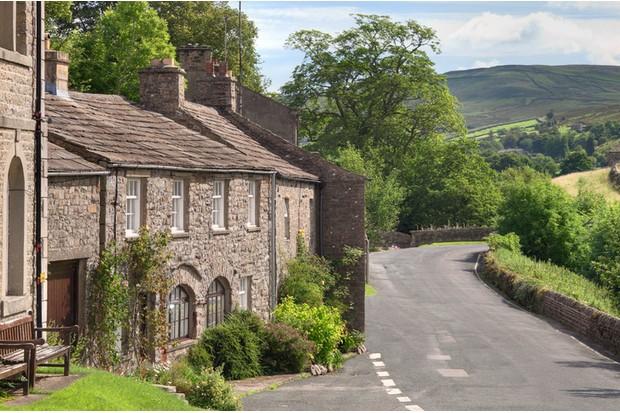 The village of Muker, Swaledale, Yorkshire Dales, England.