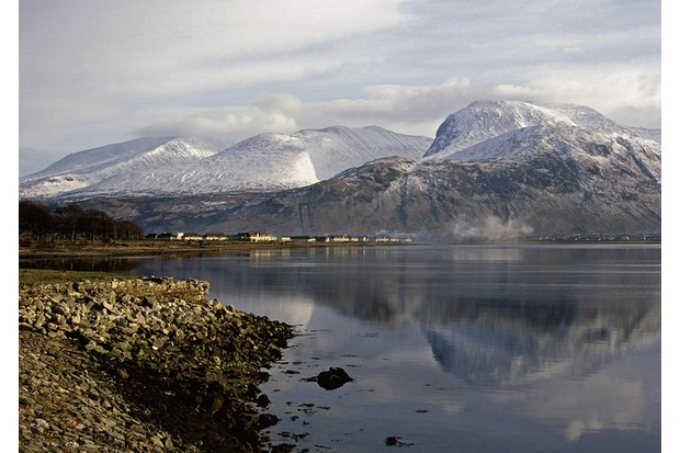 Ben Nevis and Fort William from Corpach