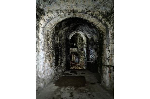 Passage in the thickness of the walls at Dover Castle, Kent, 1997. This passage leads to St John's Tower, though the wooden floors within the Tower disappeared long ago. (Photo by English Heritage/Heritage Images/Getty Images)