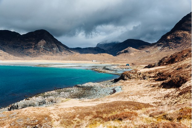 Camasunary Bay at the head of Loch Scavaig on the Isle of Skye in Scotland. AdobeRGB colorspace.