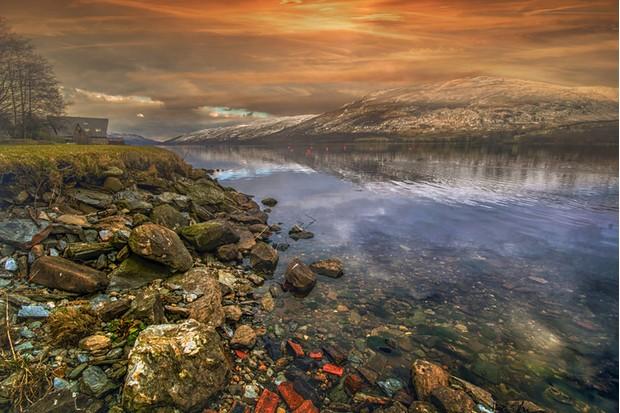 Clear water at Lochernhead in Scotland