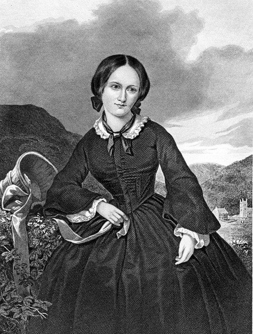Engraving from 1885 featuring Charlotte Bronte, the English poet and writer. She lived from 1816 until 1855.