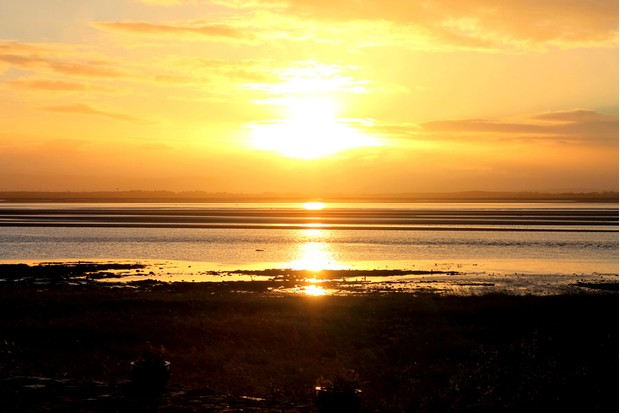 Sunset on the Solway Firth Coast, Scotland, taken from the shore near Browhouses. Taken with a Canon 1100D SLR camera.