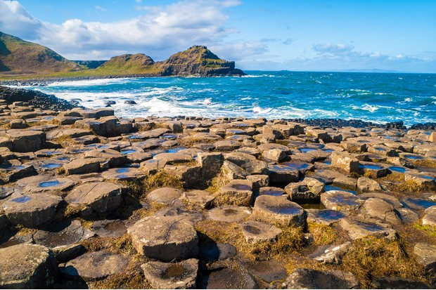Giant's Causeway: The famous area of about 40,000 interlocking basalt columns