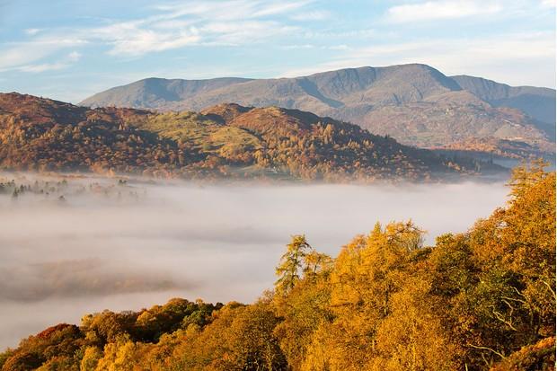 Mist over Lake Windermere in Cumbria ©Ashley Cooper / Barcroft Media