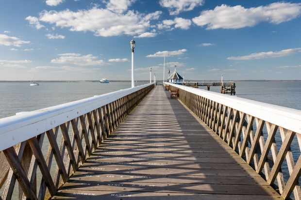 Pier at Yarmouth on the Isle Of Wight England UK Europe
