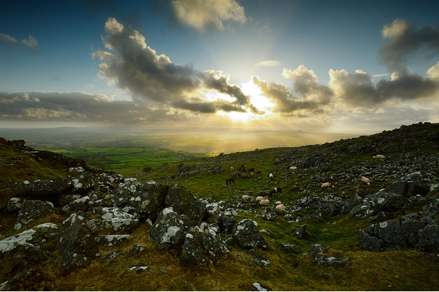 cox tor at sunset