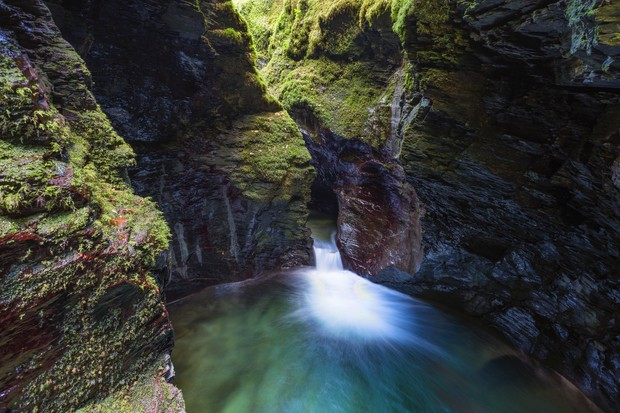 Devils Cauldron in Lydford Gorge, near Tavistock, Devon, UK
