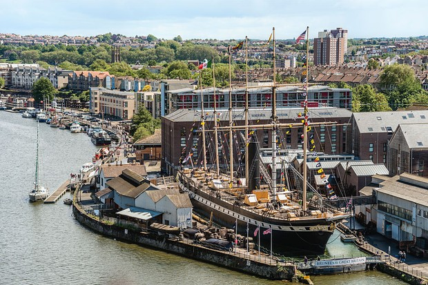 BRISTOL, SOMERSET, UNITED KINGDOM - 2015/05/29: Brunels SS Great Britain is a museum ship and former passenger steamship at Bristol Harbor. (Photo by Olaf Protze/LightRocket via Getty Images)