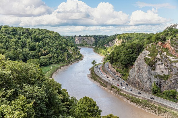 BRISTOL, SOMERSET, UNITED KINGDOM - 2015/05/29: View from the Clifton Suspension Bridge into the Avon River Valley. (EDITORS NOTE: A polarizing filter was used for this image.). (Photo by Olaf Protze/LightRocket via Getty Images)