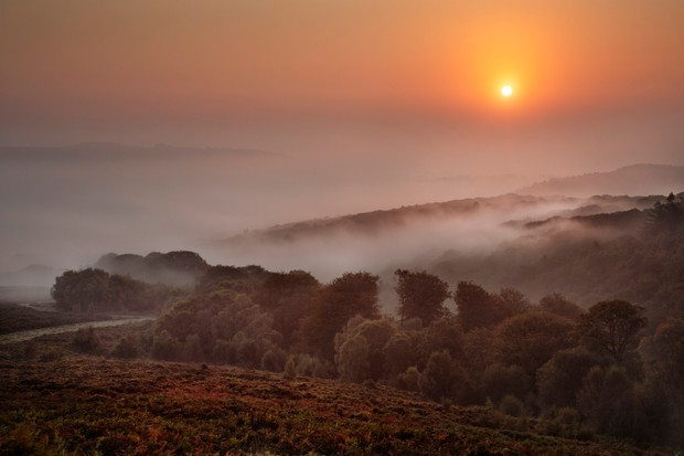 Mist over the Teign Valley