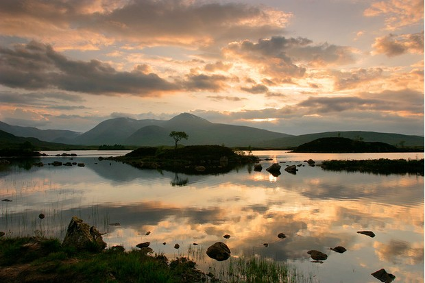 Black Mount, Argyll and Bute, Scotland. The Black Mount is a range of mountains stretching from Glen Orchy to Glen Coe, alongside Rannoch Moor. (Photo by Peter Thompson/Heritage Images/Getty Images)