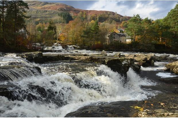 View of Dochart Falls