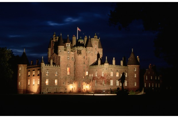 Glamis Castle serves as the official residence of the Queen Mother. (Photo by �� Vittoriano Rastelli/CORBIS/Corbis via Getty Images)