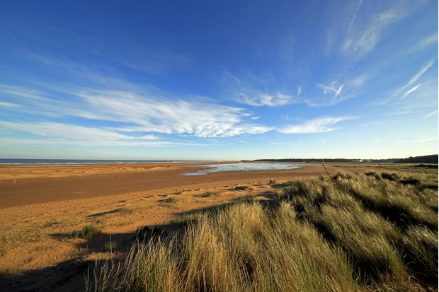 The stunning beach at Holkham, dunes beach and sea.