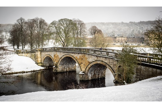 Bridge over the River Derwent In Chatsworth Park, Derbyshire