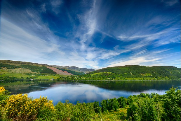 Beautiful Reflections Over Loch Tay, Scotland