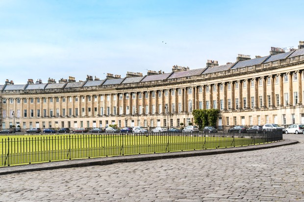 Row of houses in Bath