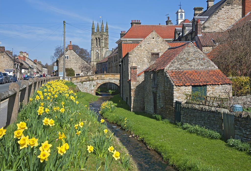 A view along a stream in Helmsley. (Photo by: Loop Images/UIG via Getty Images)