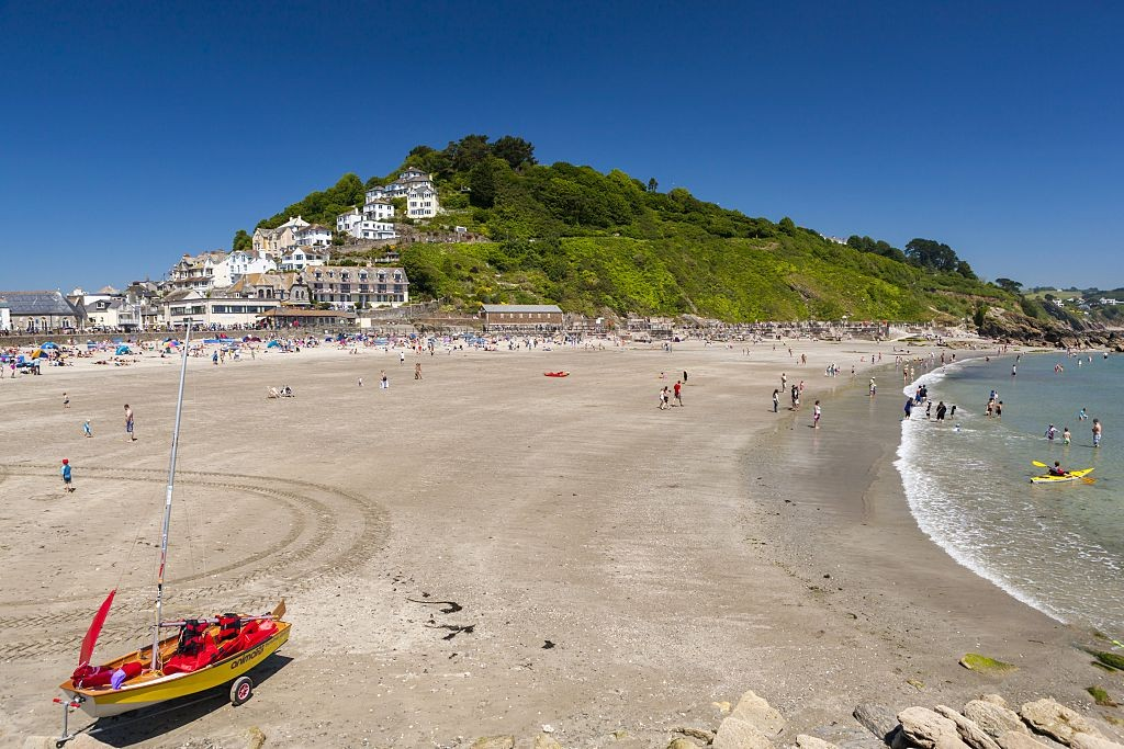 Looe beach in South Cornwall. (Photo by: Loop Images/UIG via Getty Images)