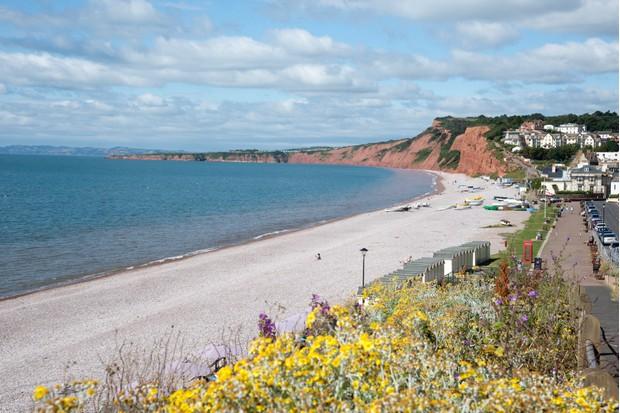 Budleigh Salterton a seaside resort on the Jurassic coast in east Devon England UK