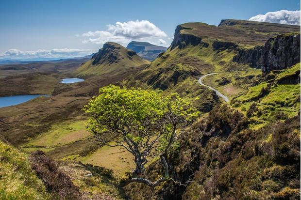 The Quiraing and Trotternish ridge on the Isle of Skye, Scotland