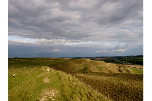 Maiden Castle, Iron age hill fort, Dorchester, Dorset, UK