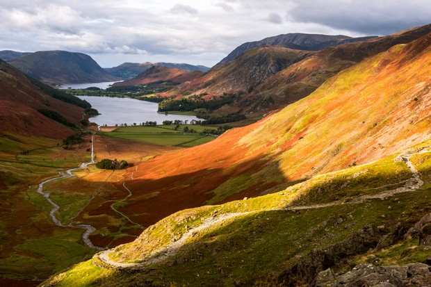 Warnscale Beck, Buttermere, Crummock Water, Lake District, Cumbria, England