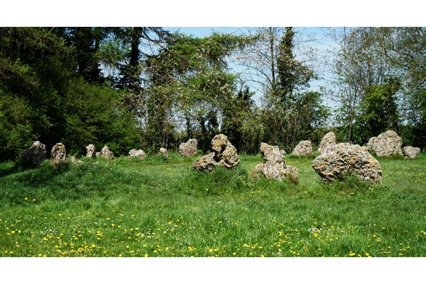 The King's Men Stone Circle which is part of the Rollright Stones, a complex of three Neolithic and Bronze Age megalithic monuments in Long Compton, Oxfordshire. Dated 21st Century. (Photo by: Universal History Archive/UIG via Getty Images)