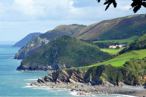The Coast around Woody Bay, Devon, UK