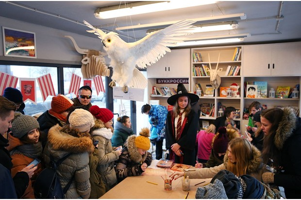 """MOSCOW, RUSSIA - DECEMBER 11, 2016: Children prepare for a Harry Potter themed parade in Novy Arbat Street. The parade marks the launch of the Russian edition of J.K.Rowling's new book titled """"Harry Potter and the Cursed Child. Parts One and Two"""". Artyom Geodakyan/TASS (Photo by Artyom GeodakyanTASS via Getty Images)"""