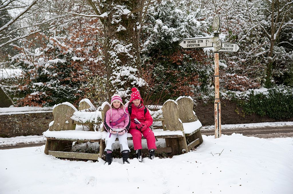 Micheldever a rural village in Hampshire England UK during winter. (Photo by: Education Images/UIG via Getty Images)