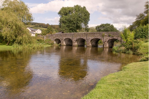 An image of Withypool Bridge over the River Barle, Exmoor, Devon, England, UK