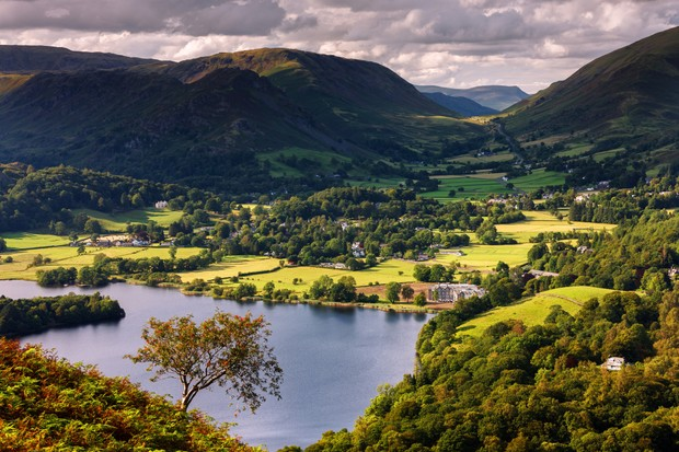 The central fells of the Lake District National Park extending from Loughrigg Terrace and Grasmere to Dunmail Raise, Cumbria, England, United Kingdom, Europe