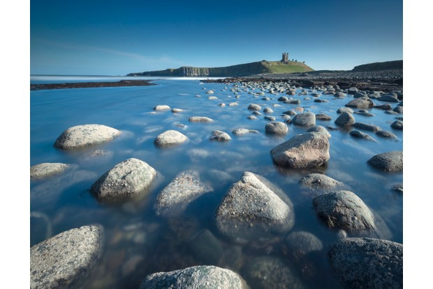 A view of Dunstanburgh Castle in Northumberland.
