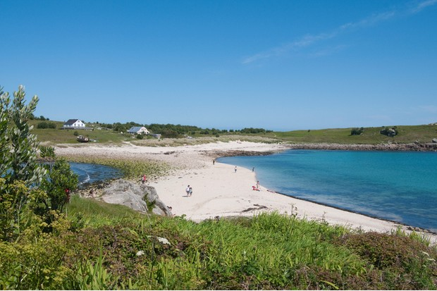 St. Agnes with Gugh in background, Isles of Scilly, Cornwall, United Kingdom, Europe