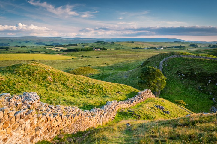 Hadrian's Wall is a World Heritage Site in the beautiful Northumberland National Park. Popular with walkers along the Hadrian's Wall Path and Pennine Way