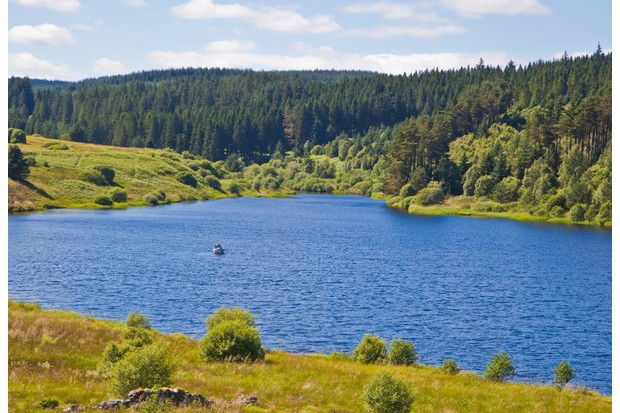 Kielder water resevoir and forest in Northumberland, United Kingdom