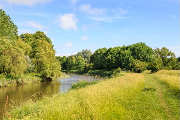 A photograph taken along the Ouse Valley Way near Lewes, in Sussex.