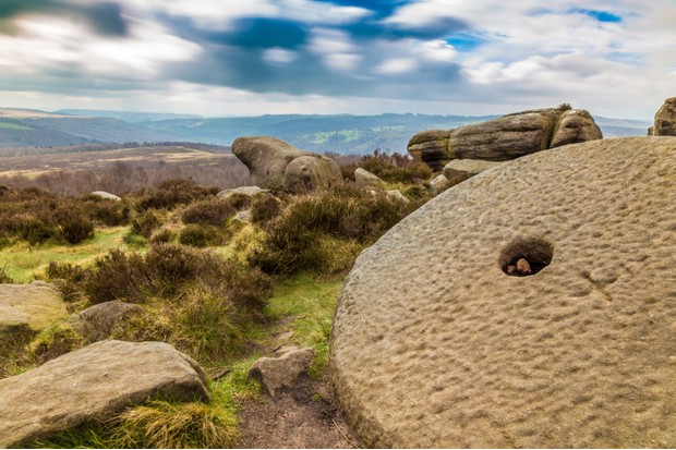 Millstones can be found on Hathersage Moor in the Peak District