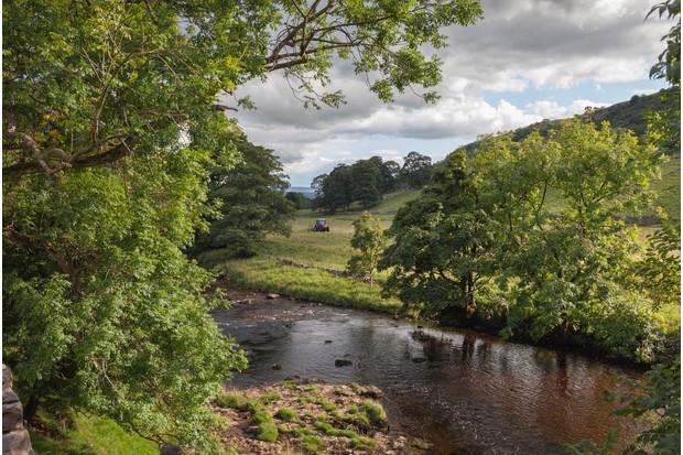 River Wharfe, Wharfedale, Yorkshire Dales National Park, England.