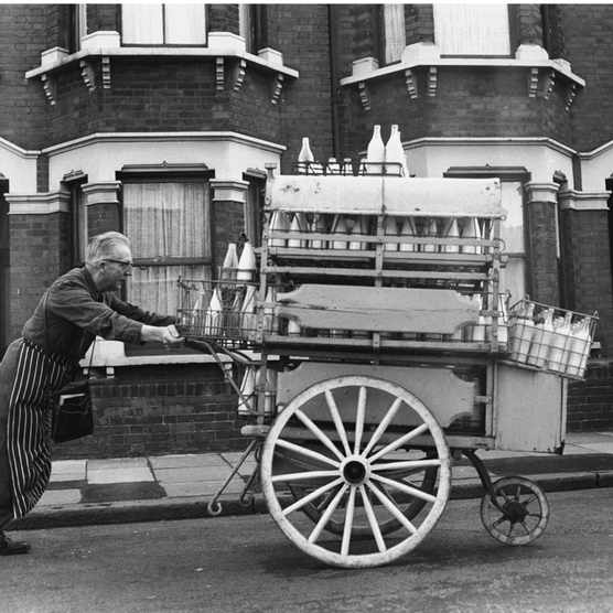 Milkman on his rounds in the East End.
